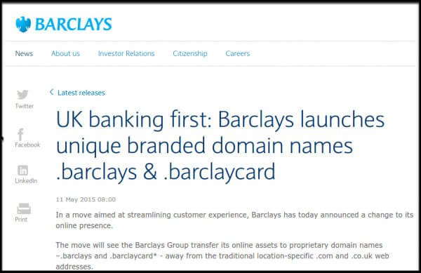 From .com to dot brand at Barclays